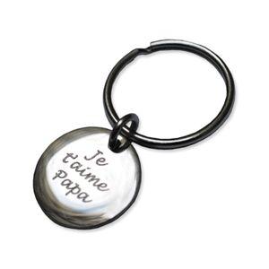 Porte-clés gravé petit rond - Publicité