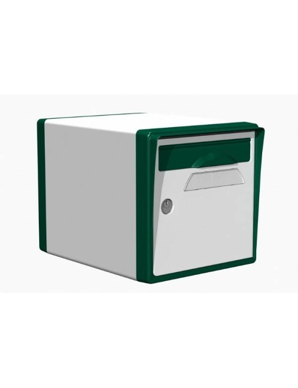 Creastuce Boite aux lettres 1 porte blanche-vert foret - CREASTUCE-04-SF