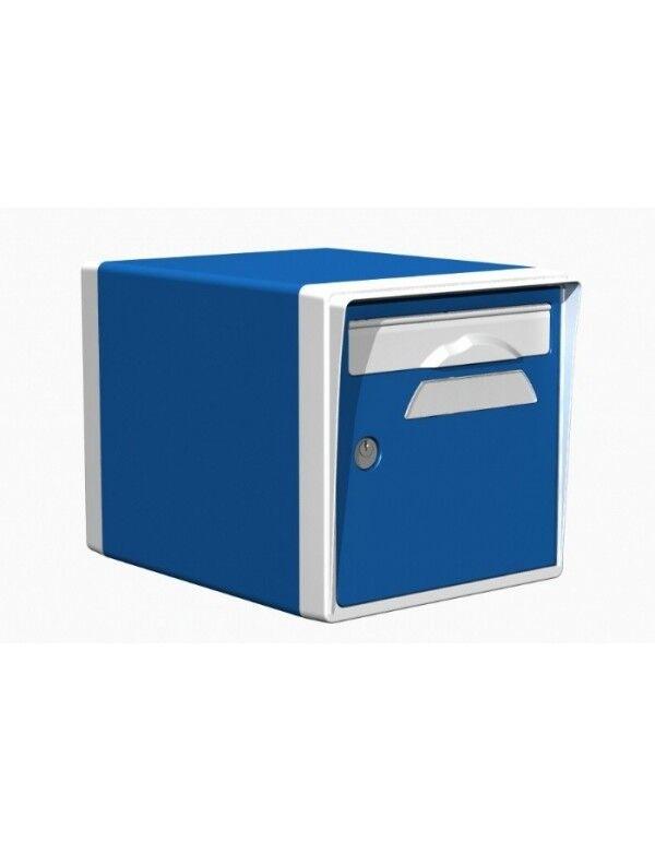 Creastuce Boite aux lettres 1 porte bleue-blanche - CREASTUCE-09-SF