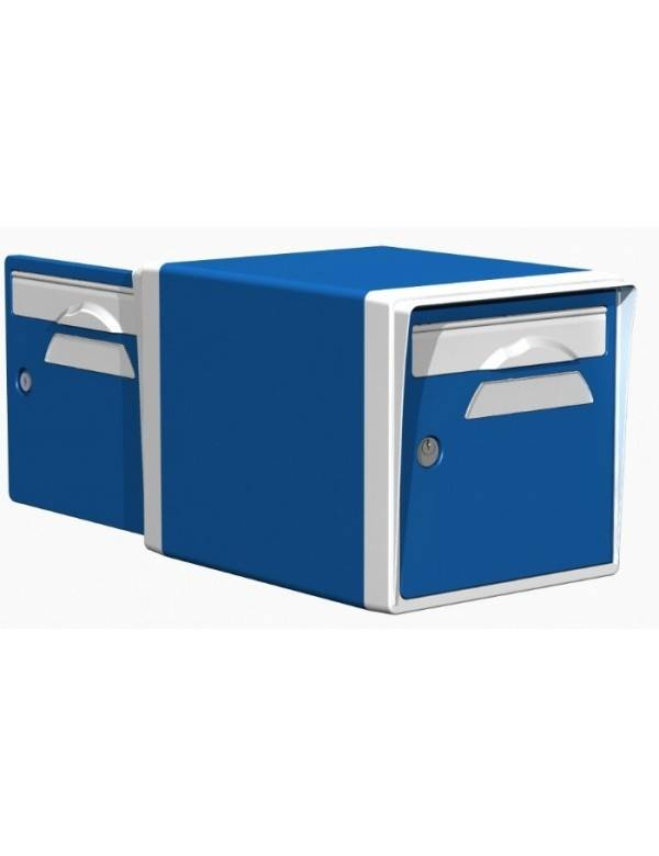 Creastuce Boite aux lettres 2 portes bleue-blanche - CREASTUCE-09-DF