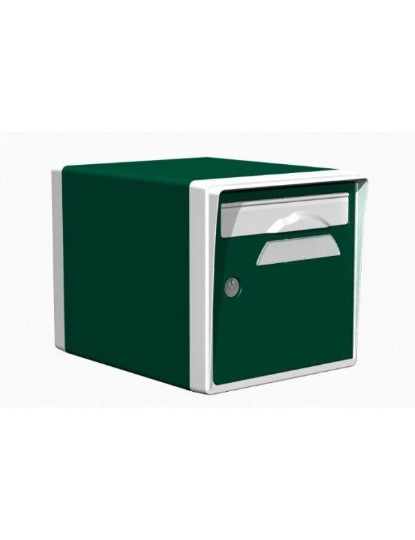 Creastuce Boite aux lettres 1 porte vert foret-blanche - CREASTUCE-03-SF