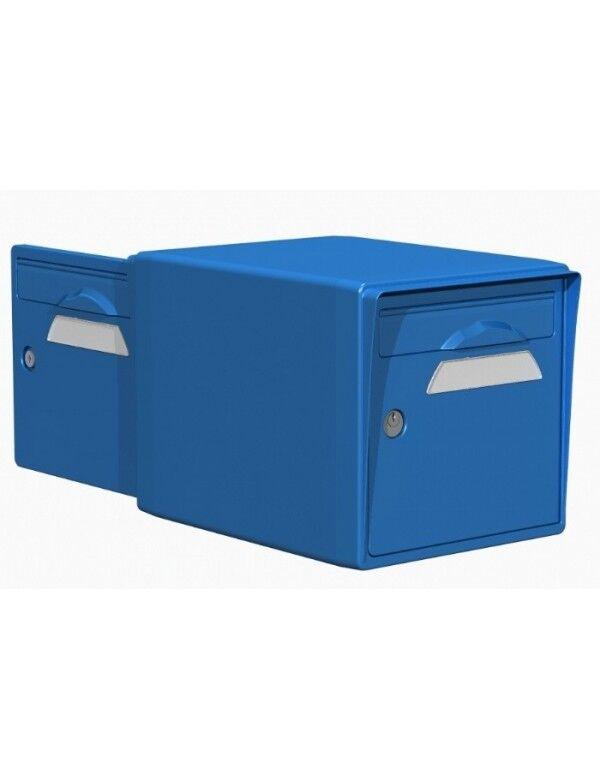 Creastuce Boite aux lettres 2 portes bleue - CREASTUCE-15-DF