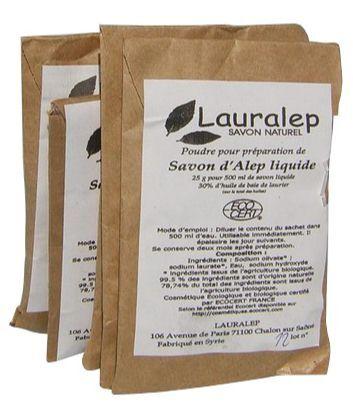 Lauralep Sachet recharge d'Alep liquide Bio.