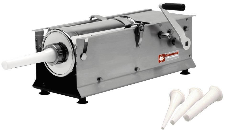 Diamond Bourreuse à Saucisses Manuel 7 litres INOX 660x220x(h)280mm