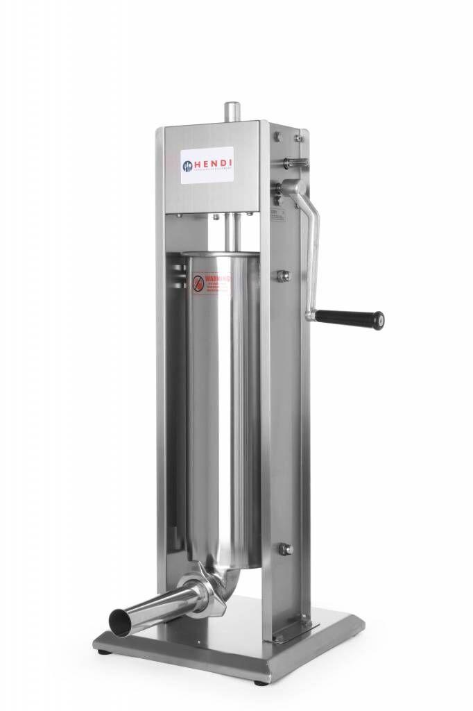 Hendi Machine à Saucisse Inox - Profi Line - 7 Litres - 300x300x770(h)mm