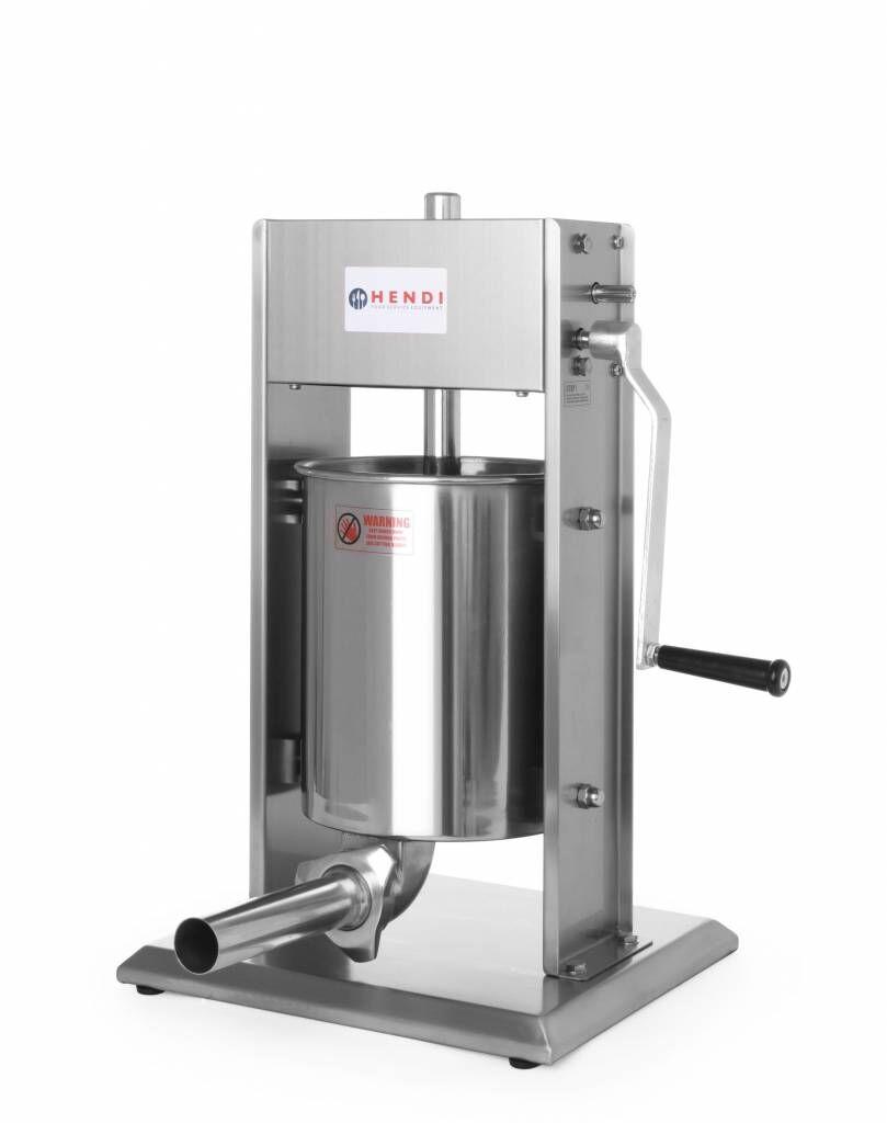 Hendi Machine à Saucisse Inox - Profi Line - 10 Litres - 370x330x595(h)mm