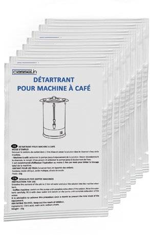 Casselin Détartrant De Percolateur - 10 x 30gr ATTENTION! Détartrer Votre Machine à Café, Percolateur, Machines à Glace - CONSEIL!