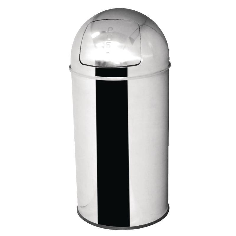 CHRselect Poubelle Inox à Couvercle Battant - 40 Litres