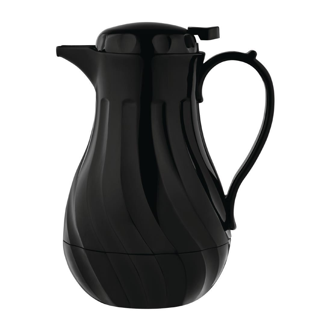 Olympia Pichet Isotherme Torsadé Noir 2 Litres Ø182x(H)284mm