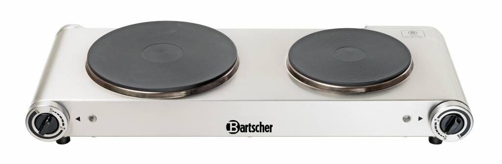 Bartscher Plaque Cuisson Inox - 2 Plaques Ø155 et Ø190mm - 2,5kW - 535x225x90(h)mm