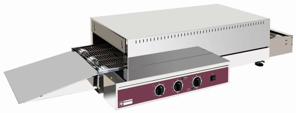 Diamond Four électrique à translation, bande 375mm 400V 121x60x(H)26/32cm 6000W