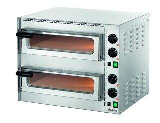 Bartscher Four à Pizza Mini Plus DOUBLE 230V 1 Pizza Ø350mm 570x550x475(h)mm