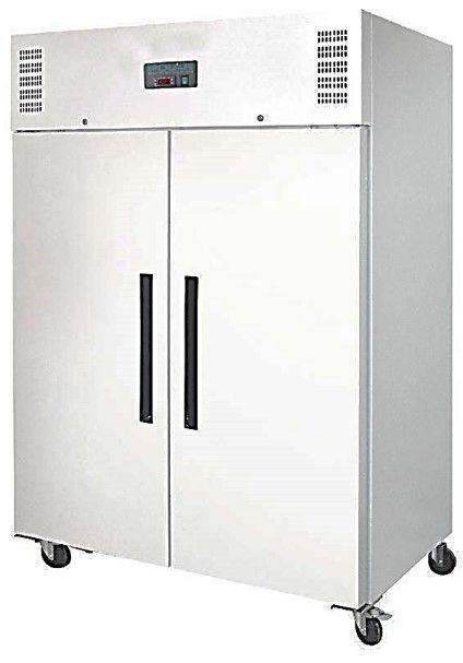 Polar Armoire Réfrigérée Blanc 6 Etagères Réglables sur Roulettes 1200 Litres 815x1340x2000(H)mm
