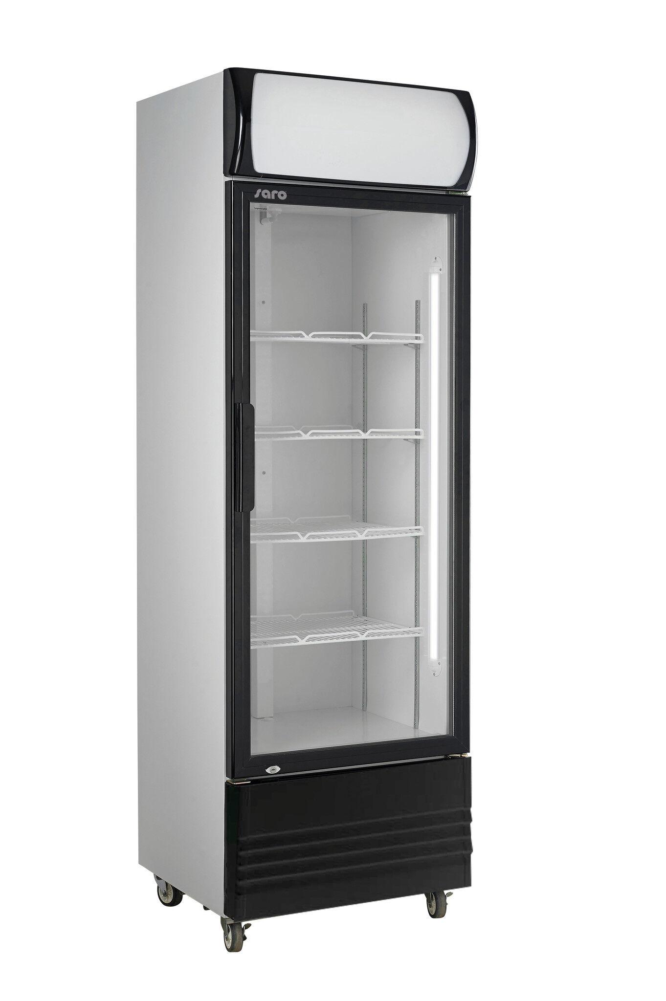 Saro Refroidisseur de Bouteille Avec porte en verre Éclairage led 320 Litres 570x601x(H)1820mm