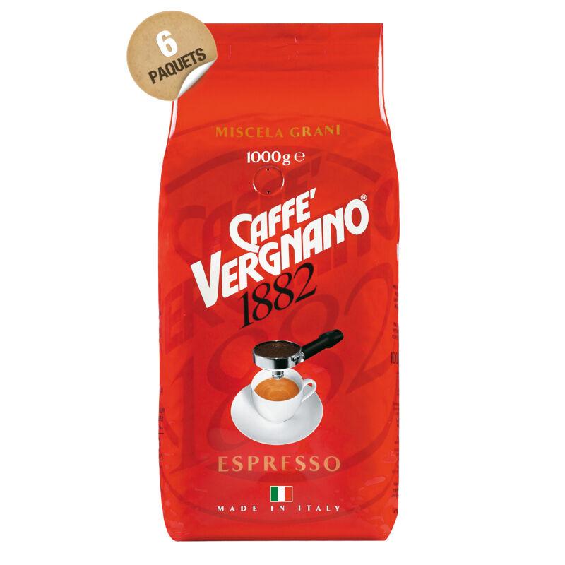 Café en grain italien espresso Caffè Vergnano - 6 x 1 kg