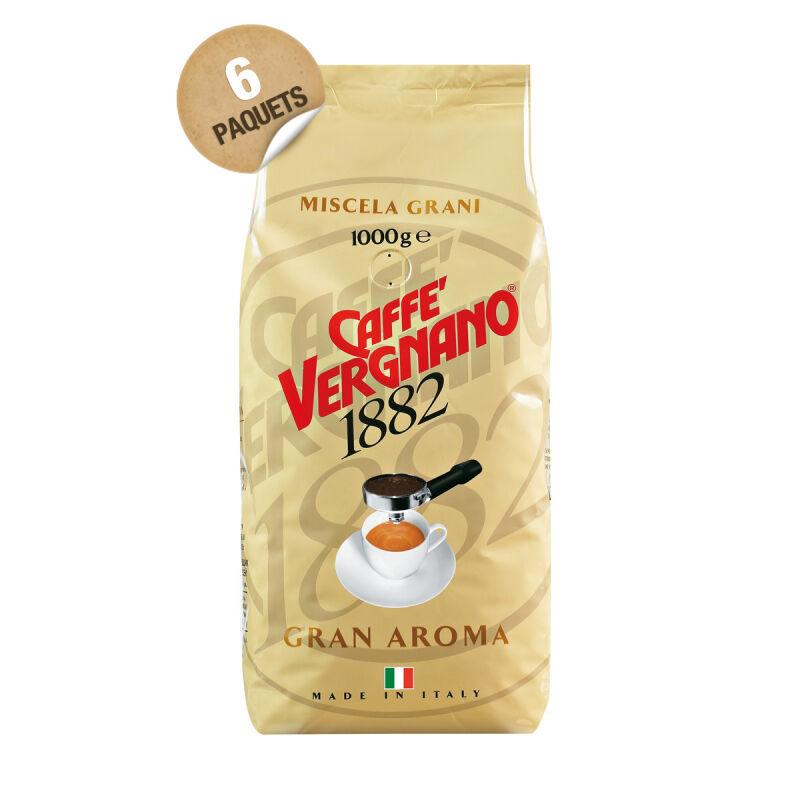 Café Gran Aroma en grain italien Caffè Vergnano - 6 x 1 kg