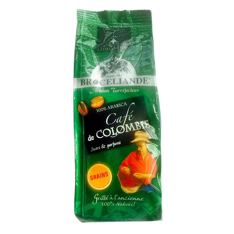 Café en grain Colombie 100% arabica Brocéliande - 250 g
