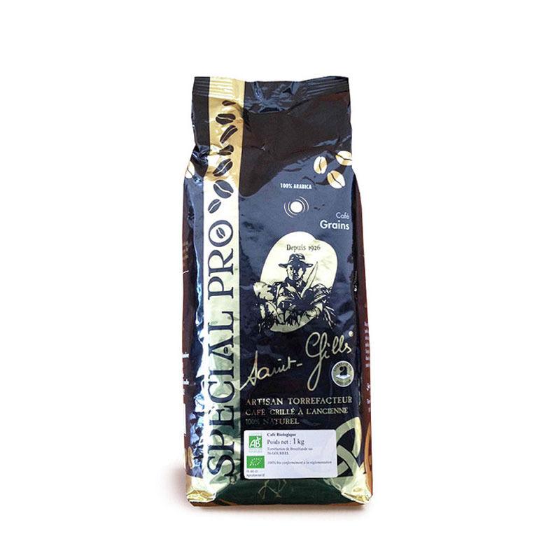 Café en grain Bio Max 100% arabica Saint Gilles Brocéliande - 1 kg