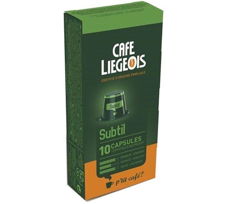 Nespresso 10 Capsules compatible Nespresso® SUBTIL - Café Liegeois
