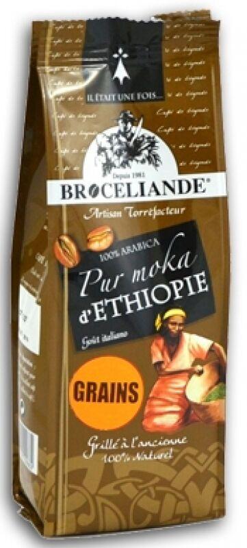 Café en grain Moka d'Ethiopie 100% Arabica Brocéliande - 250G