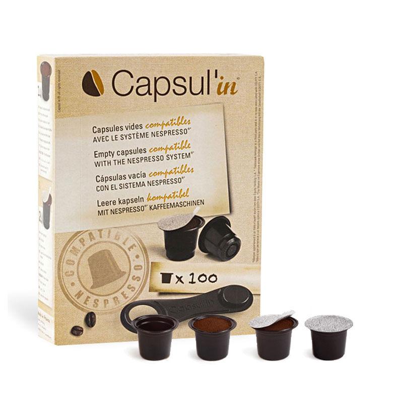 Nespresso Capsules Nespresso® compatibles vides Capsul'in x 100