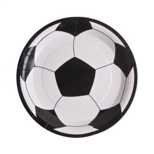 10 Assiettes Football en carton ...