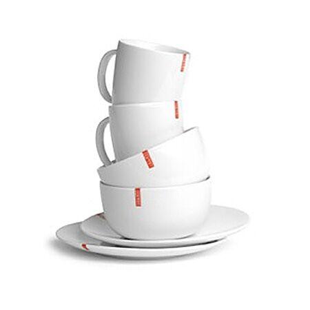Set petit déjeuner en porcelaine blanche Esprit