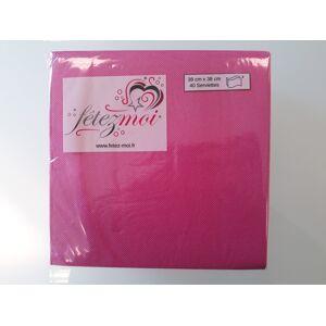 40 Serviettes Fushia 2 plis 38x38cm - Fetez-moi - Publicité