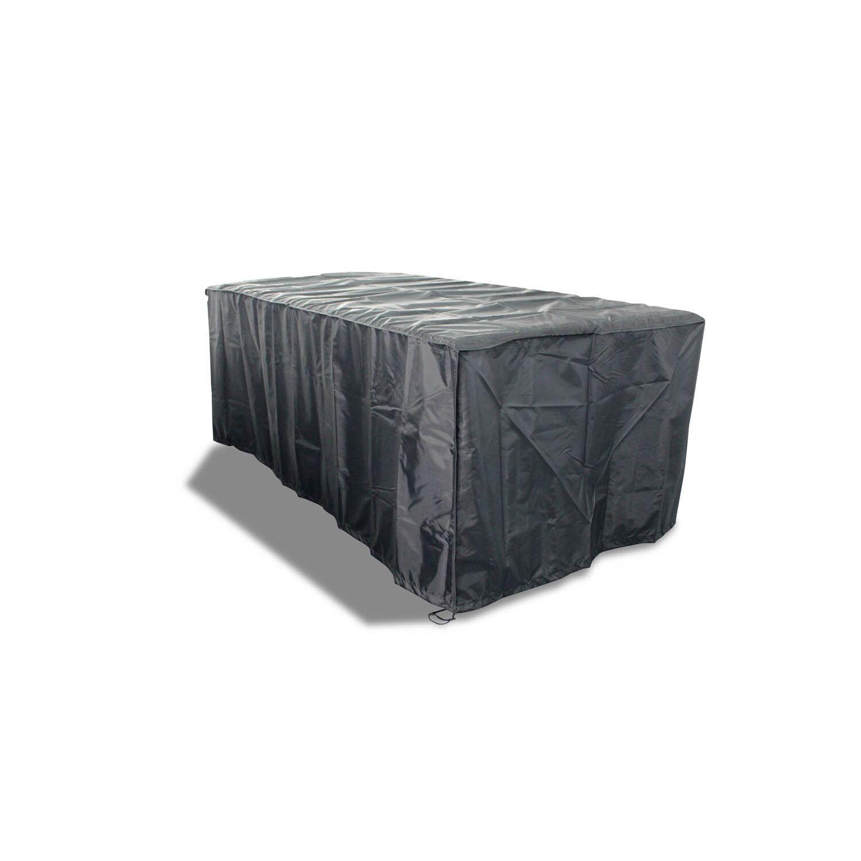 Housse de protection salon de jardin 155x94x68cm + chaises - Alassio aluminium 6 places
