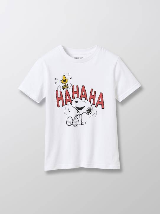 SNOOPY T-shirt coton bio Cyrillus X PEANUTS™ Collection Snoopy blanc taille: 4A