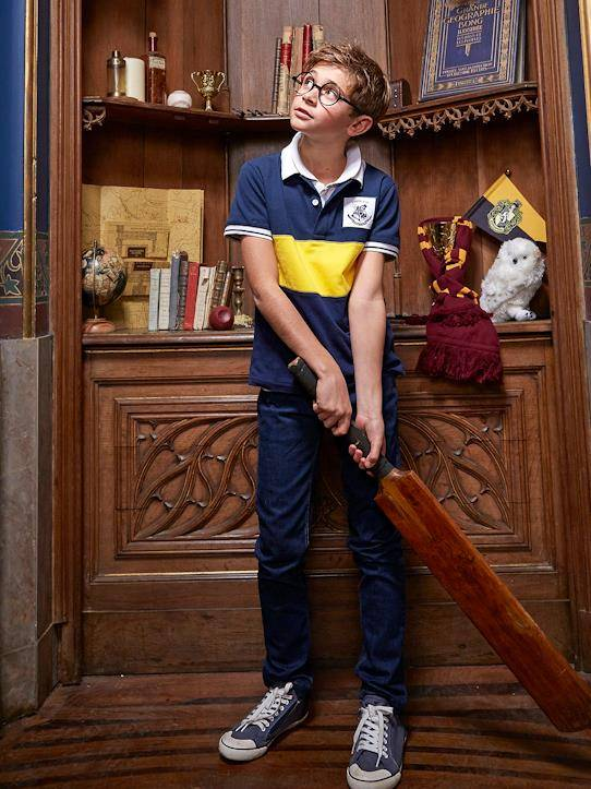 HARRY POTTER Polo Collection Harry Potter marine/jaune taille: 10A