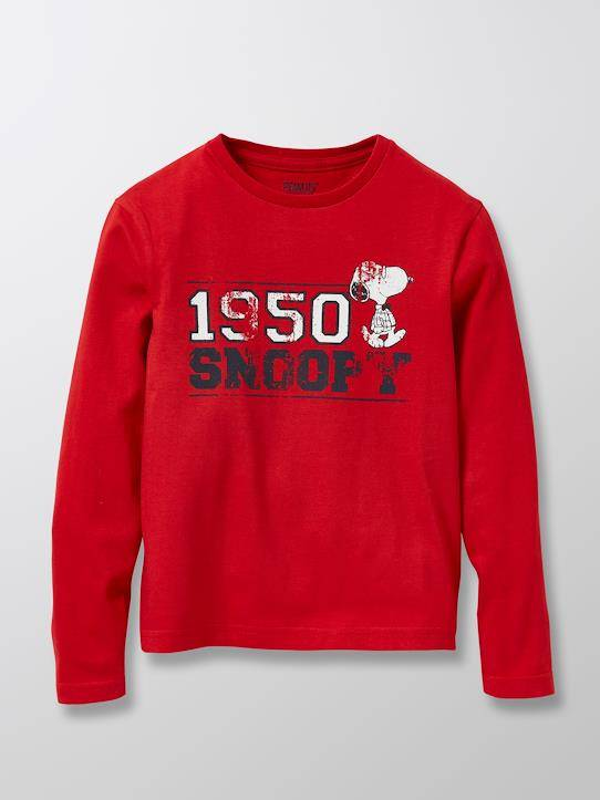 SNOOPY T-shirt Enfant Cyrillus X PEANUTS™ - Collection Snoopy rouge taille: 3A