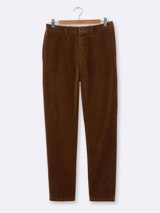 CYRILLUS Chino velours Regular homme marron glacé taille: 48