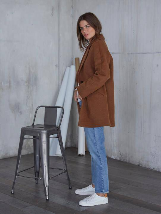 CYRILLUS Le manteau oeuf Chiara - Limited Collection noisette taille: 42