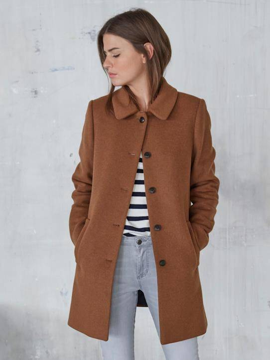 CYRILLUS Manteau Car Coat Margareth - Limited Collection noisette taille: 46