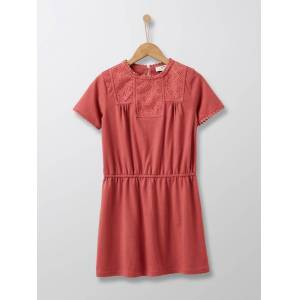 CYRILLUS Robe avec broderie anglaise fille sorbet framboise taille: 3A