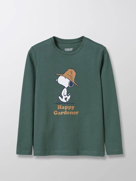 SNOOPY T-shirt coton bio Cyrillus X PEANUTS™ Collection Snoopy vert mousse taille: 3A