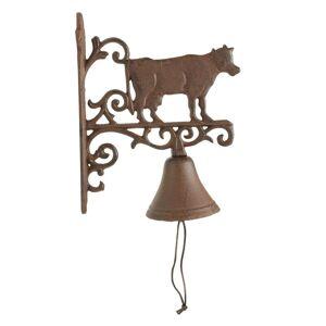 Décoration d'Autrefois Cloche Vache Fonte - Marron - Publicité