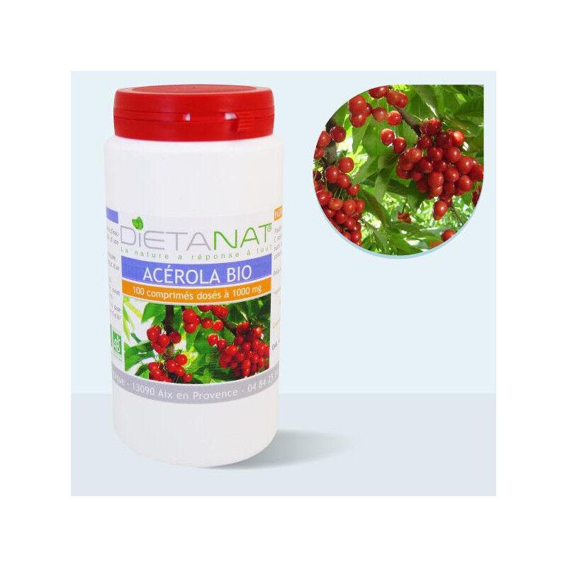 Dietanat Acerola 1000 bio VIT C - 100 Comprimés bio 1000mg