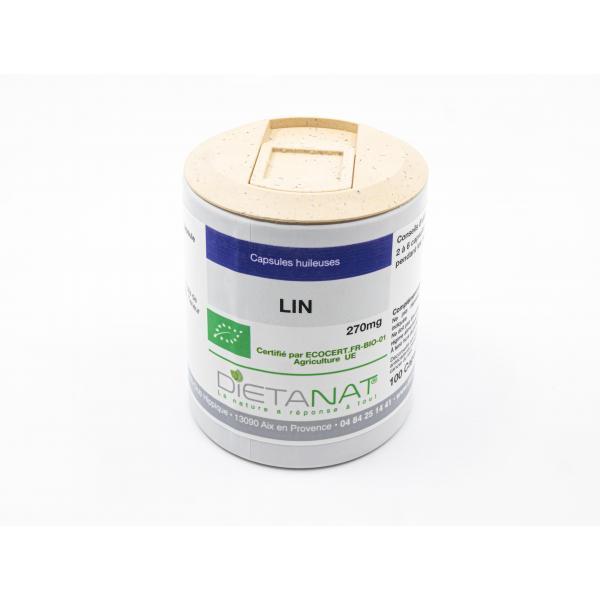 Dietanat Huile de Lin bio - 100 capsules bio 270mg