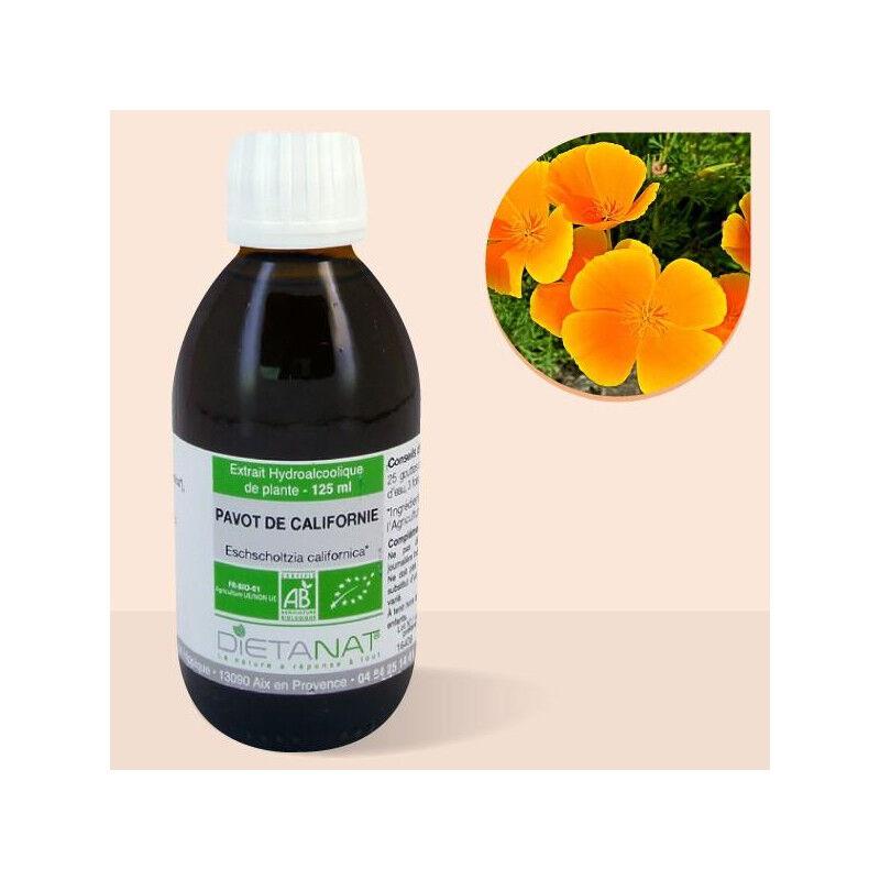 Dietanat Escholtzia Californica bio - 125ml Teinture mère bio