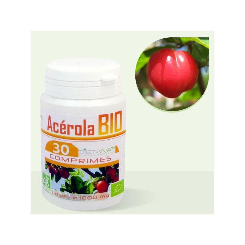 Dietanat Acerola 1000 bio VIT C - 30 Comprimés bio 1000mg