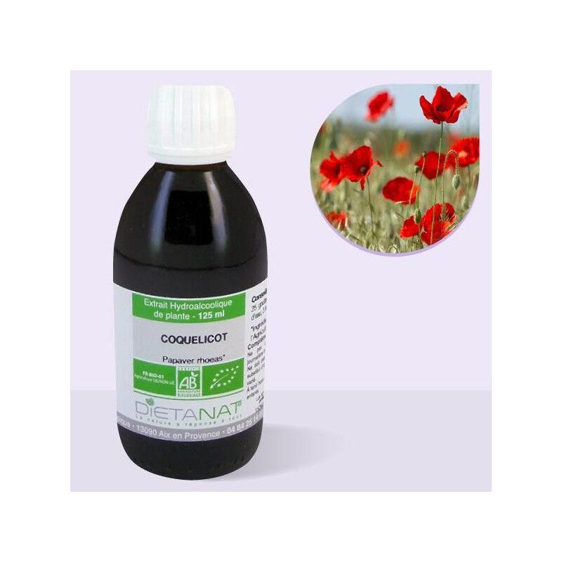 Dietanat Coquelicot bio - 125ml Teinture mère bio