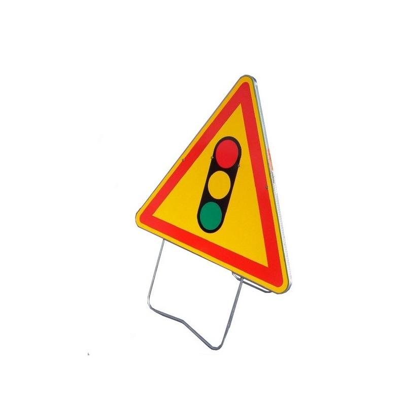 Nadia Signalisation Panneau de signalisation AK17 - Feu Tricolore