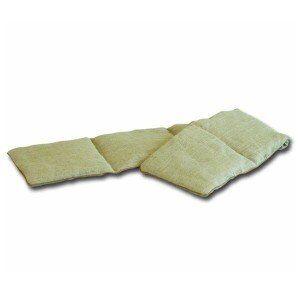 Mille Oreillers Bouillotte tour de cou en lin 5 compartiments graine de lin 15x75cm