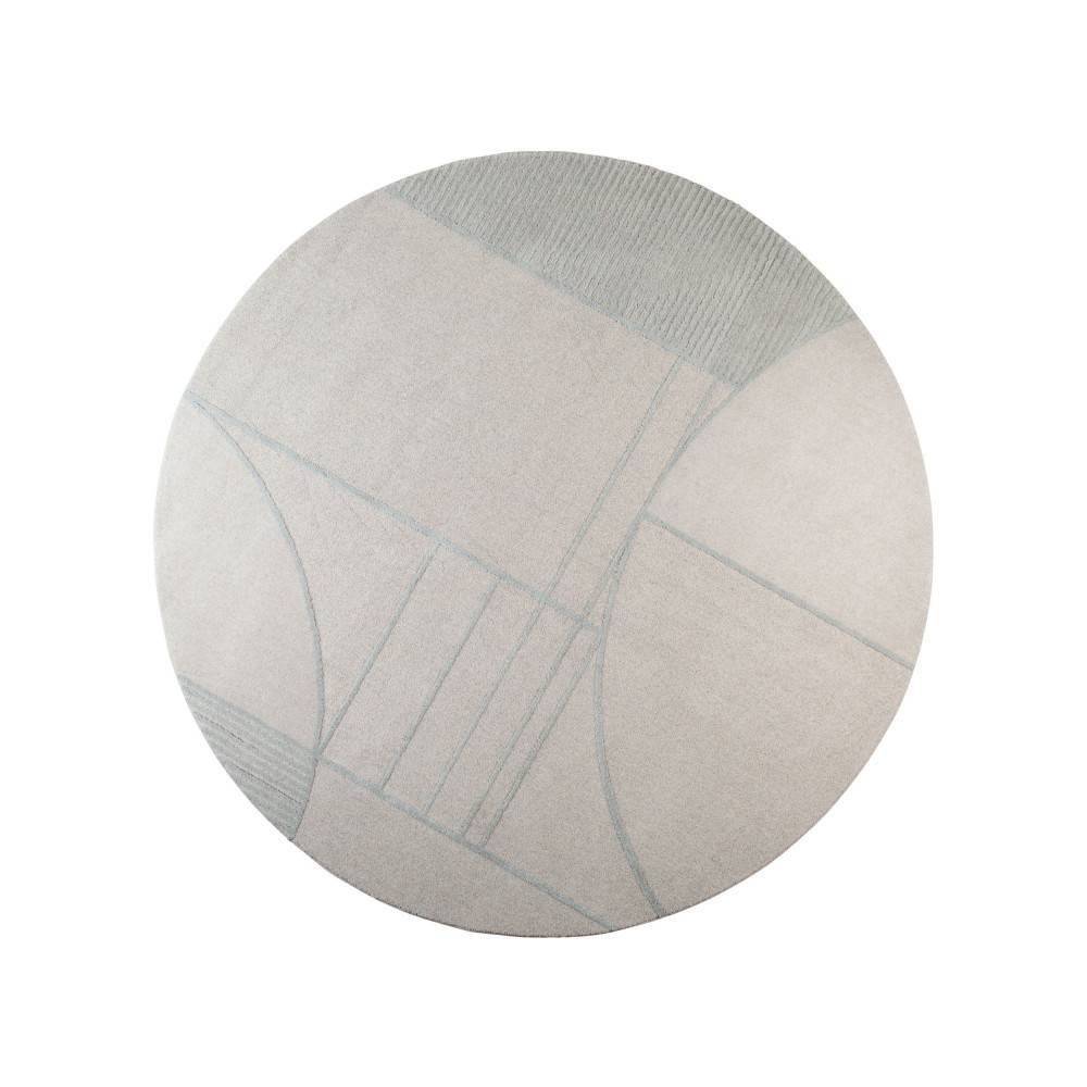 Zuiver Bliss - Tapis design rond en tissu gris