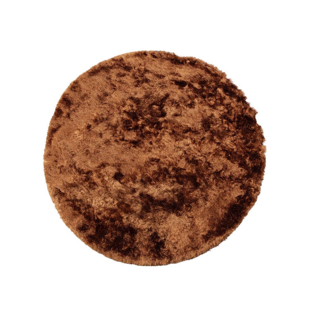BePureHome Praline - Tapis rond en tissu marron