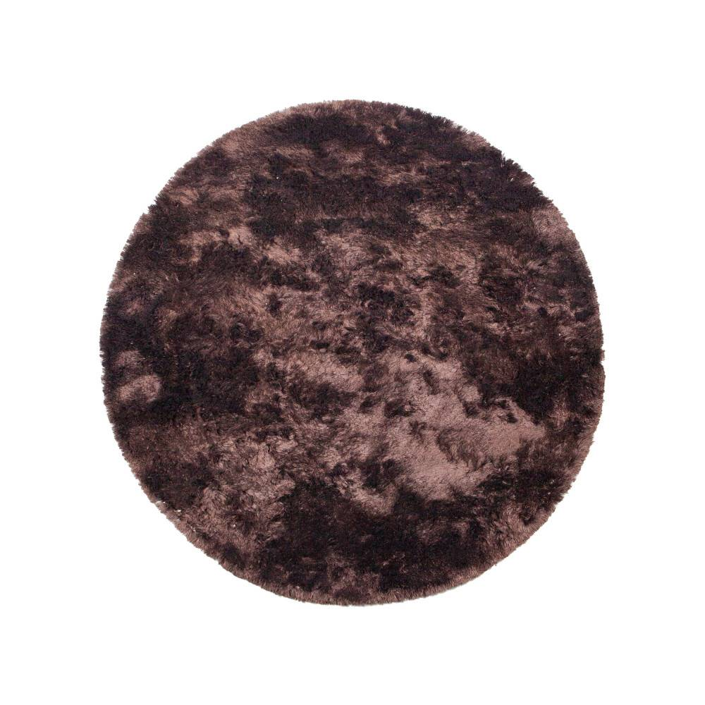 BePureHome Praline - Tapis rond en tissu marron foncé