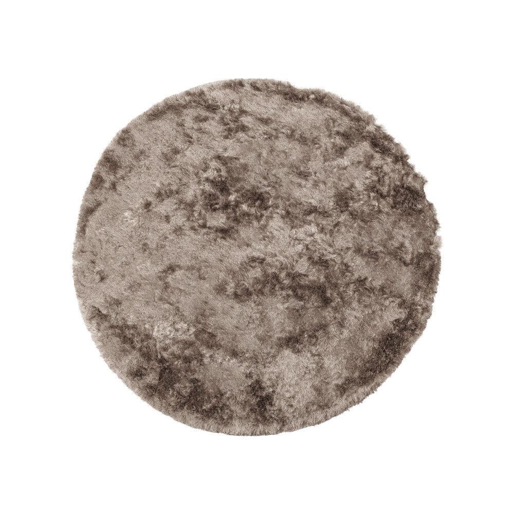 BePureHome Praline - Tapis rond en tissu taupe