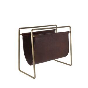 Dutchbone Scholar - Porte revues vintage cuir et métal - Publicité